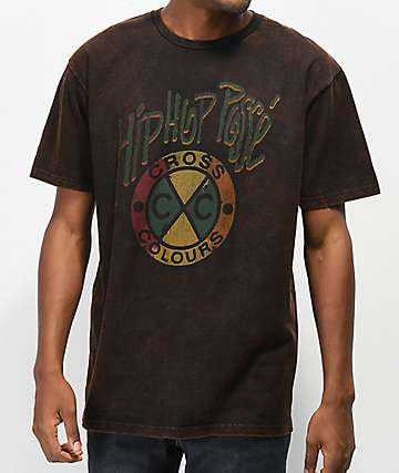 Cross Colours Acid Hip Hop Posse Black T-Shirt