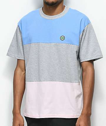 Cross Colours Block Light Blue T-Shirt