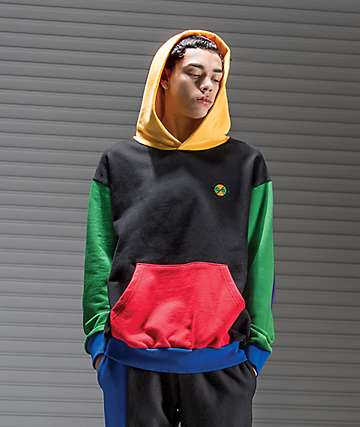 Cross Colours Colorblock Black Hoodie