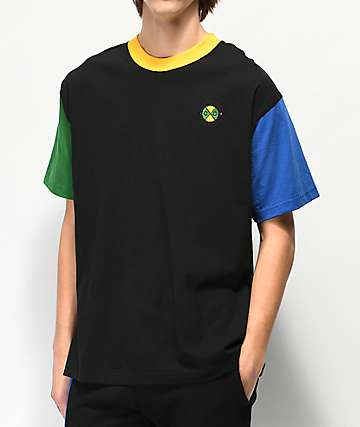 Cross Colours Colorblock Black T-Shirt