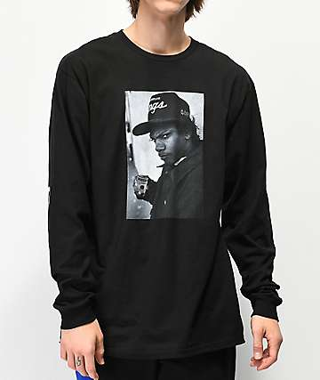 Cross Colours Eazy-E Profile Photo Black Long Sleeve T-Shirt