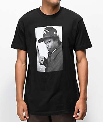 Cross Colours Eazy Profile Photo Black T-Shirt
