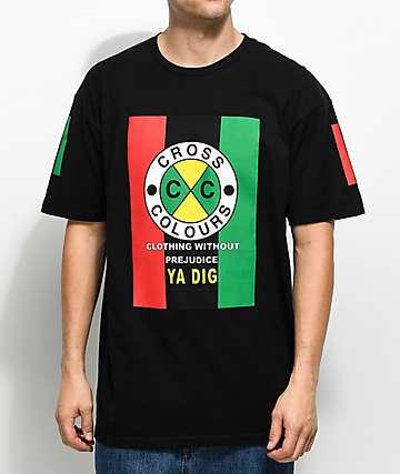 Cross Colours Flag Logo Black T-Shirt