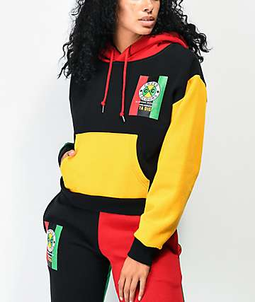 Cross Colours Flag Logo Colorblock Hoodie