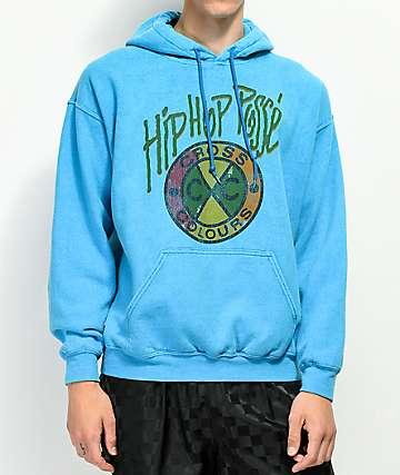 Cross Colours Hip Hop Posse Blue Wash Hoodie