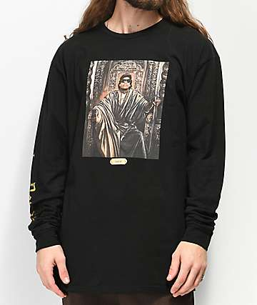 Cross Colours Hip-Hop Royalty Eazy-E Black Long Sleeve T-Shirt