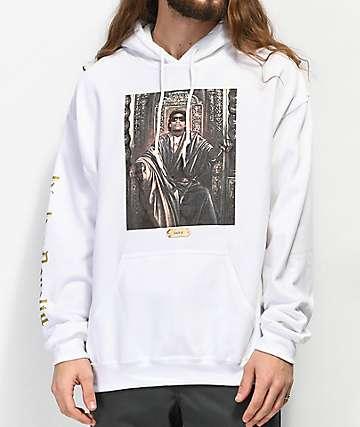Cross Colours Hip-Hop Royalty Eazy-E sudadera con capucha blanca