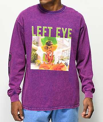 Cross Colours Left Eye Glasses camiseta morada de manga larga