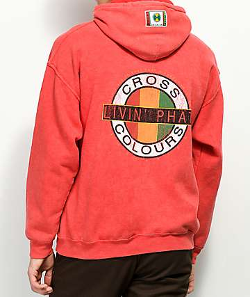 Cross Colours Livin' Phat Red Wash Hoodie