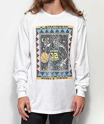 Cross Colours Midnight Magic White Acid Washed Long Sleeve T-Shirt