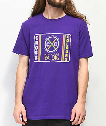 Cross Colours Neon Label Purple T-Shirt