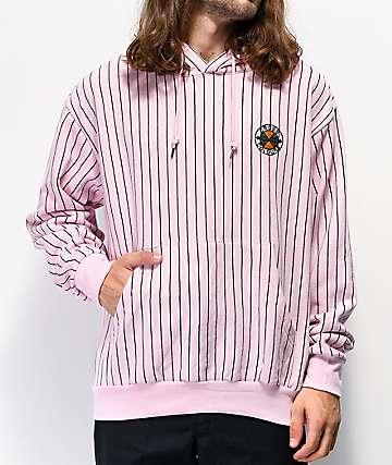 Cross Colours Pinstripe Pink Hoodie