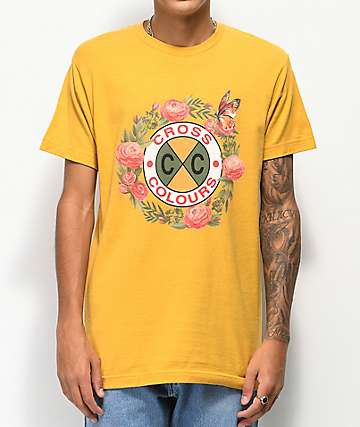 Cross Colours Rose Circle Ginger T-Shirt