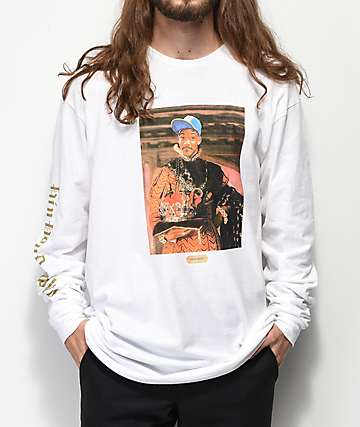 Cross Colours Royalty Fresh Prince White Long Sleeve T-Shirt