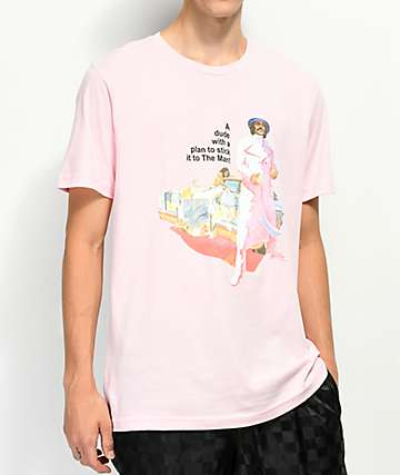 Cross Colours Street Culture Superfly Pink T-Shirt