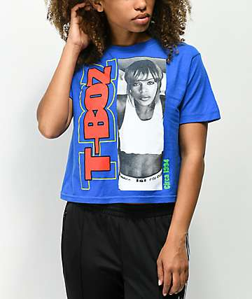 Cross Colours T-Boz Blue Crop T-Shirt
