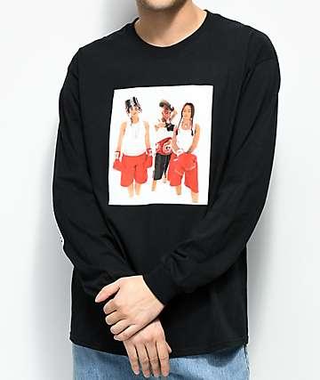 Cross Colours TLC Boxing camiseta negra de manga larga