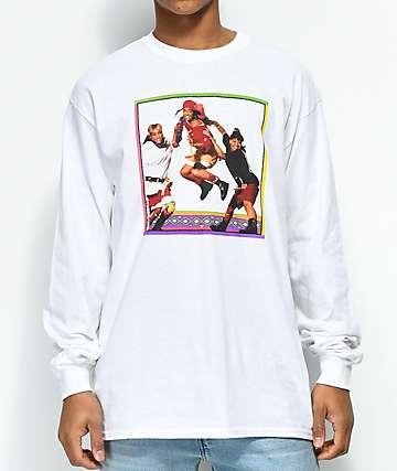 Cross Colours TLC Jump camiseta blanca de manga larga