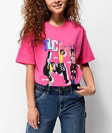 Cross Colours TLC Jumping Hot Pink T-Shirt
