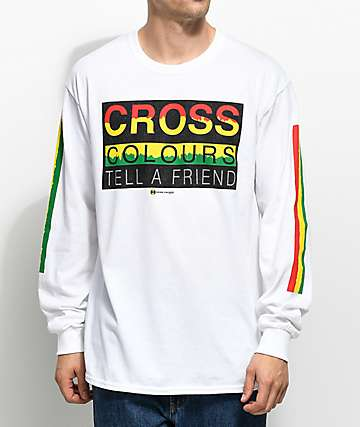 Cross Colours Tell A Friend camiseta blanca de manga larga