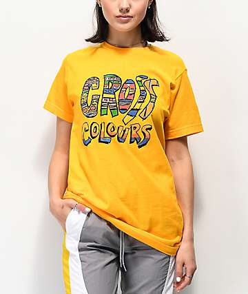 Cross Colours Tribal Yellow T-Shirt