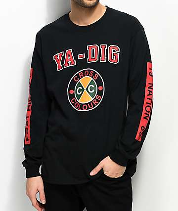 Cross Colours Ya Dig Black Long Sleeve T-Shirt