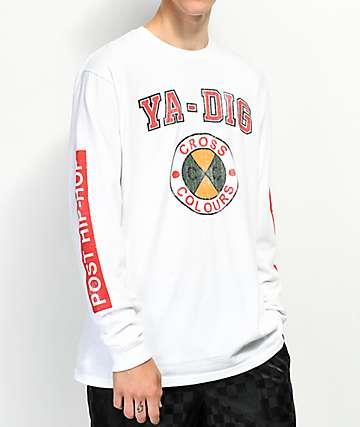Cross Colours Ya Dig White Long Sleeve T-Shirt