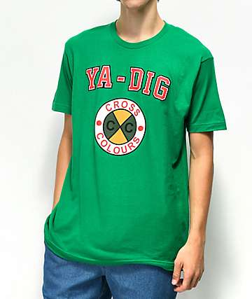 Cross Colours Ya Dig camiseta verde
