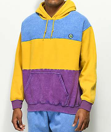 Cross Colours sudadera con capucha de tres tonos