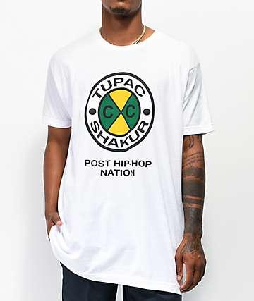 Cross Colours x Tupac Circle Logo White T-Shirt