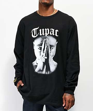 Cross Colours x Tupac Praying Hand Black Long Sleeve T-Shirt