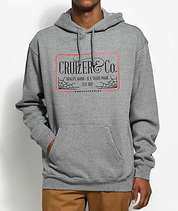 Cruizer & Co. Web Gun Metal Hoodie