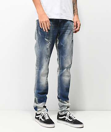 Crysp Andromeda Medium Wash Blue Denim Skinny Jeans