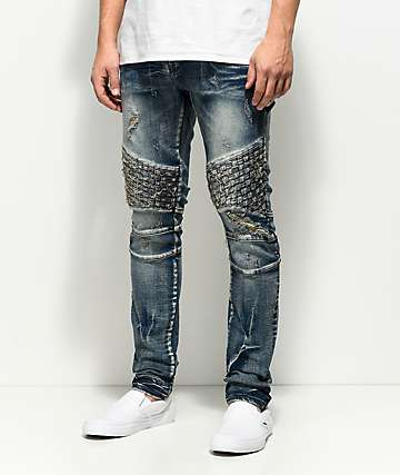 Crysp Denim Basket Woven Blue Wash Jeans