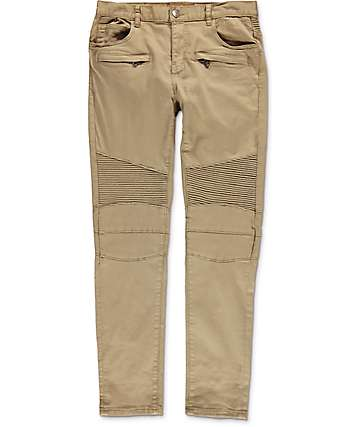 Crysp Denim Jordan Moto Khaki Twill Pants