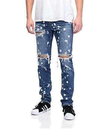 Crysp Denim Pacific jeans blanqueados rotos