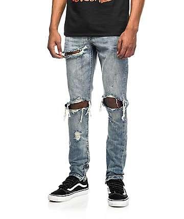 Crysp Denim Pacific jeans rotos lavado piedra