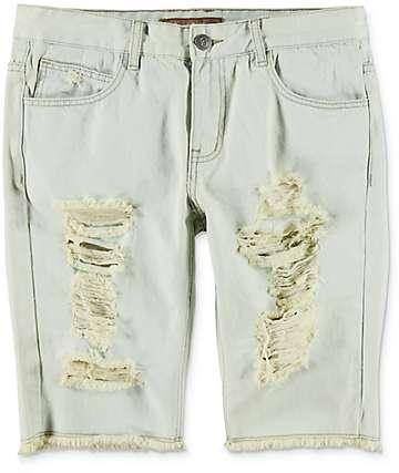 Crysp Denim Prophets shorts rotos en azul claro