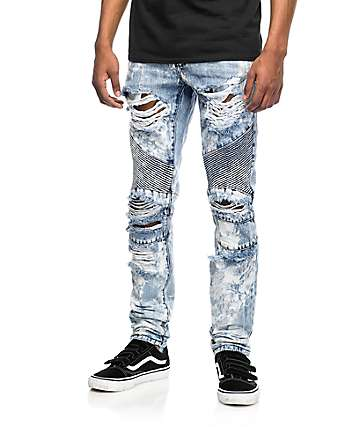 2c1c5d756 Crysp Denim Skywalker Biker Distressed Jeans