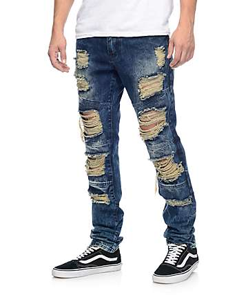 Crysp Denim Wayne Indigo Ripped Jeans