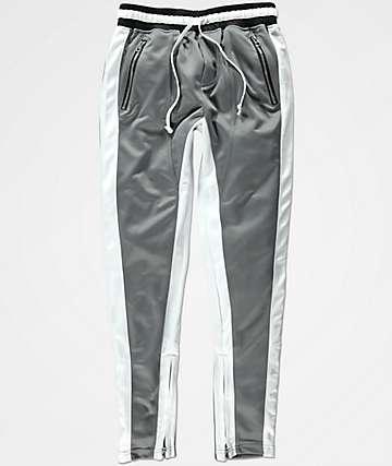 Crysp FB pantalones de chándal en gris y blanco