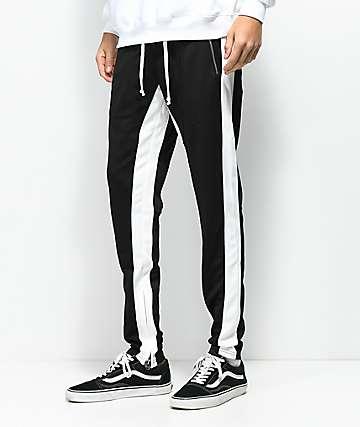 Crysp FB pantalones de chándal en negro y blanco