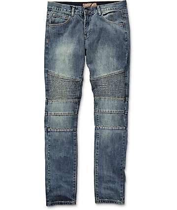 Crysp Jordan Moto Indigo Slim Fit Jeans