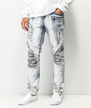 f7362f2c66fb5e Crysp Montana Dirty Bleach Denim Jeans