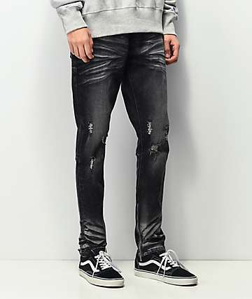 Crysp Pacific Black Wash Denim Skinny Jeans