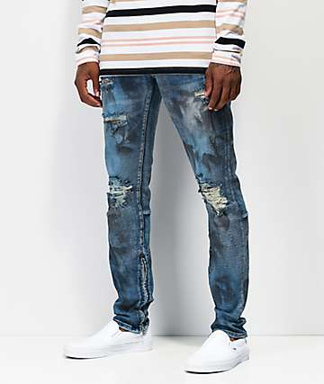 Crysp Pacific Oil Wash Blue Denim Jeans