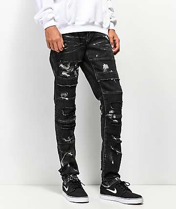 Crysp Stark Black Paint Jeans