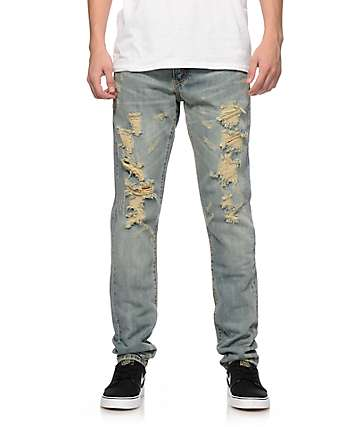 Crysp jeans ajuste ceñido blancos