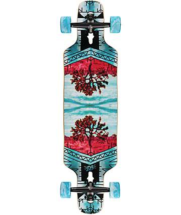 "DB Vantage 36"" drop through longboard completo"