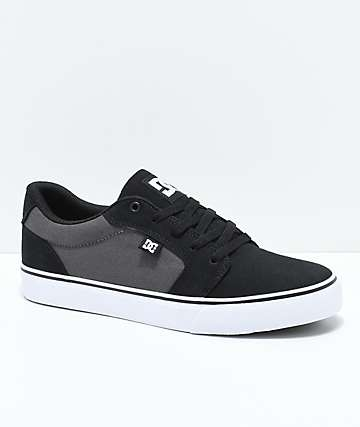 DC Anvil TX Black, Battleship Grey & White Skate Shoes